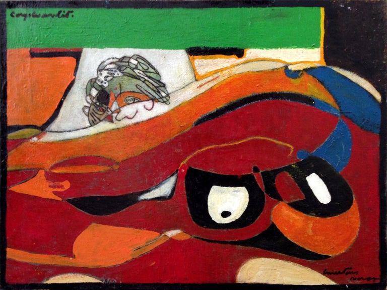Late 20th Century Pierre Courtens Painting