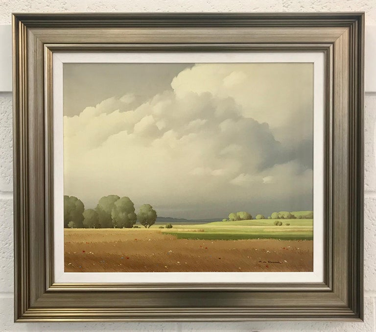 Ciel de France 20th Century Landscape Painting Realistic Clouds by French Artist For Sale 1