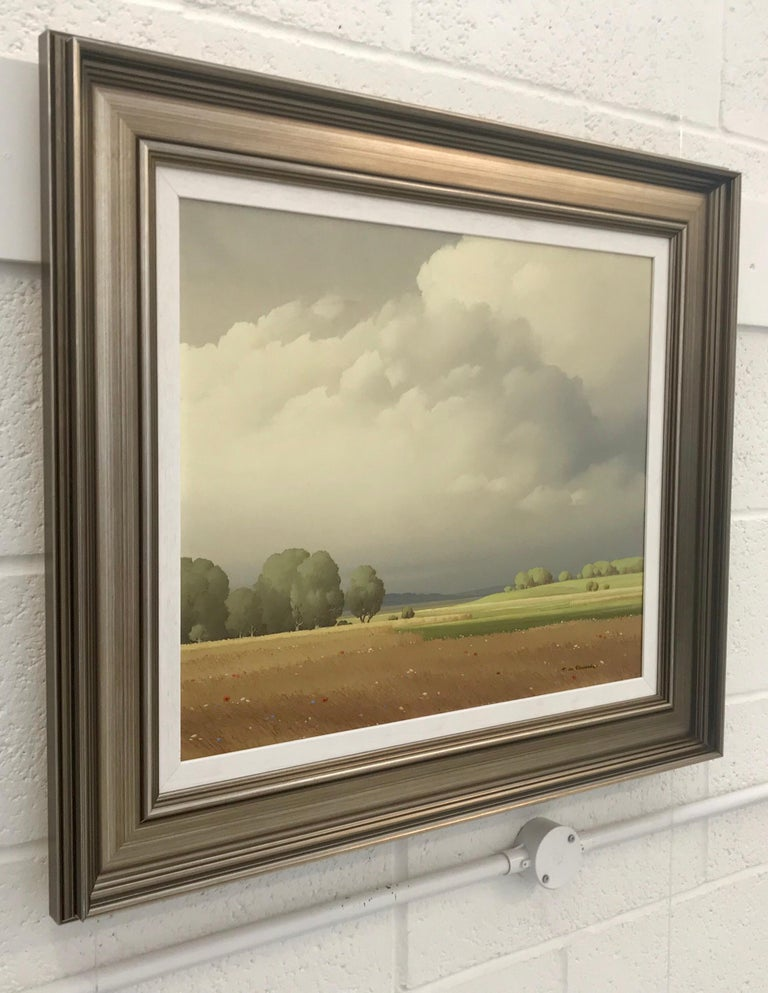 Ciel de France 20th Century Landscape Painting Realistic Clouds by French Artist For Sale 2