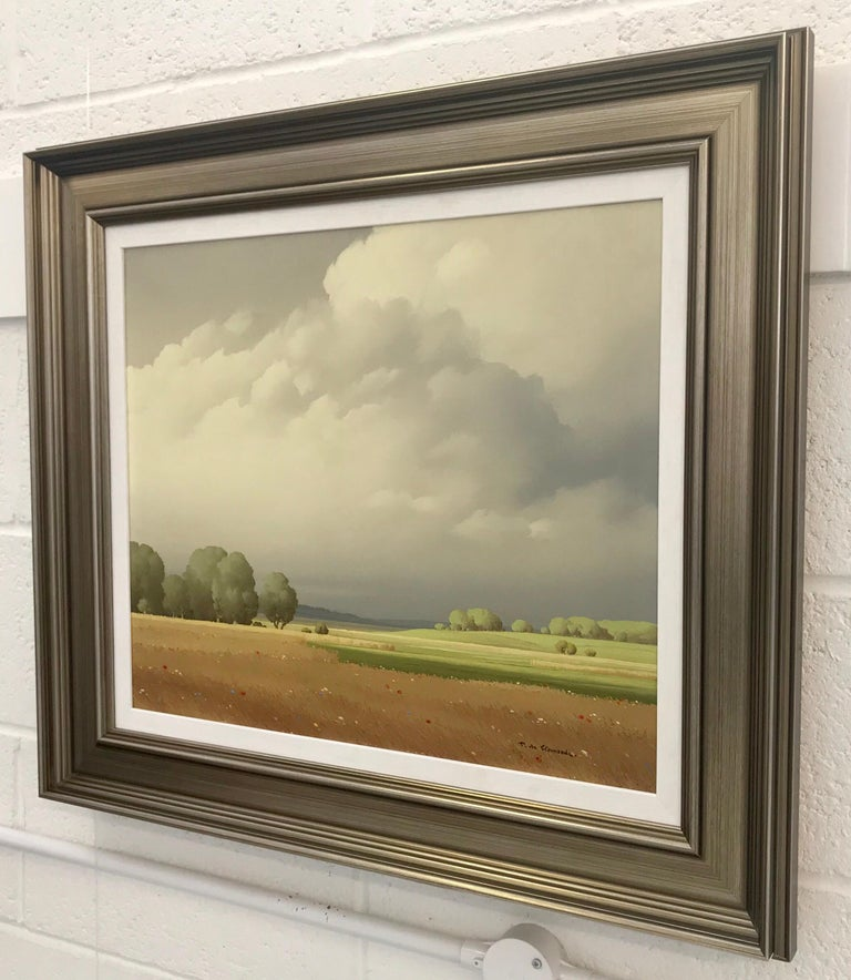 Ciel de France 20th Century Landscape Painting Realistic Clouds by French Artist For Sale 3