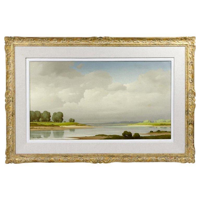 Pierre de Clausade Landscape Painting - In The Loire Valley