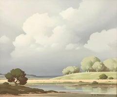 Vue sur la Loire France 20th Century Painting by French River Landscape Artist
