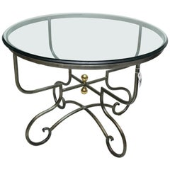 """Pierre Deux """"Provence"""" Table, Wrought Steel"""
