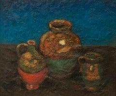 """Pierre Dumont """"Still Life"""" Oil on Canvas, 1910-1919 Fauvisme École Rouen"""