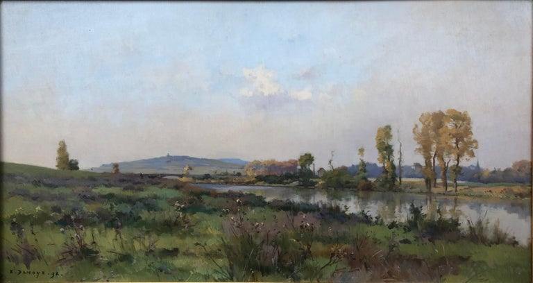 19th Century French Impressionist Landscape - Painting by Pierre Emmanuel Damoye