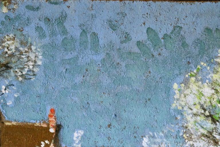 Les Jardiniers - Post Impressionist Oil, Figures in Landscape by P E Montezin For Sale 5