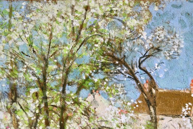 Les Jardiniers - Post Impressionist Oil, Figures in Landscape by P E Montezin - Post-Impressionist Painting by Pierre Eugene Montezin