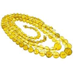 Pierre/Famille Citrine Faceted Double Strand Necklace