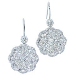 Pierre/Famille Diamond and Platinum Drop Style Earrings