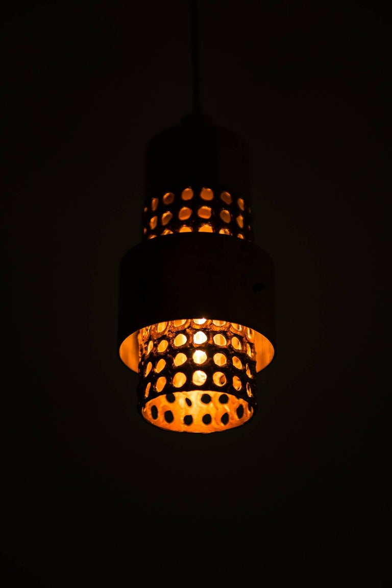 Mid-20th Century Pierre Forsell Ceiling Lamps by Skultuna in Sweden For Sale