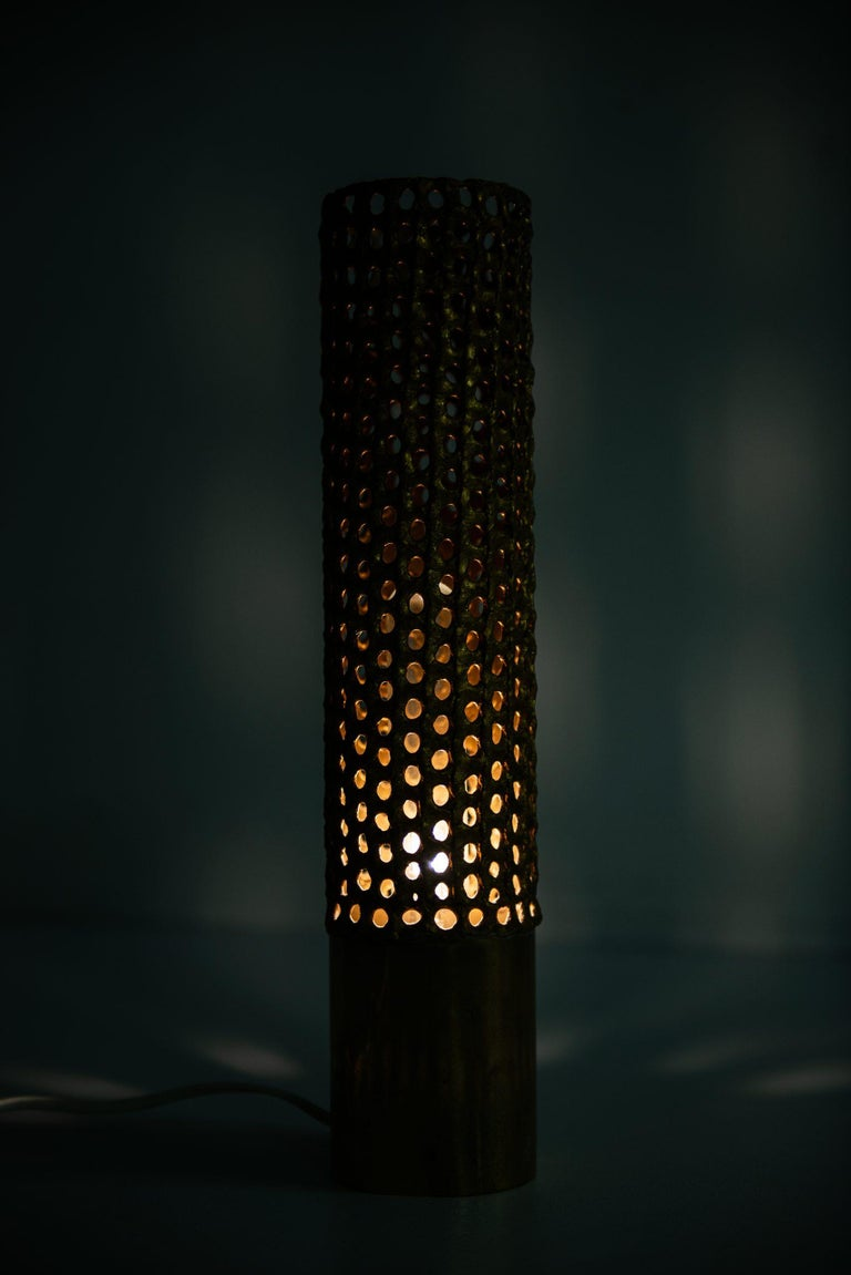 Brass Pierre Forsell Table Lamp Produced by Skultuna in Sweden For Sale