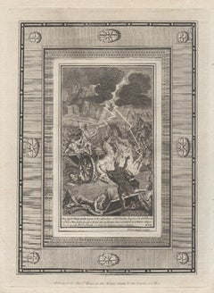 The Greeks and Trojans Battle, Homer's Iliad. C18th Classical engraving 1780