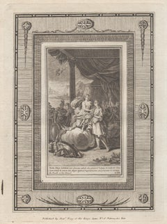 Thetis brings Achilles new Armour, Homer's Iliad. C18th Classical engraving 1780