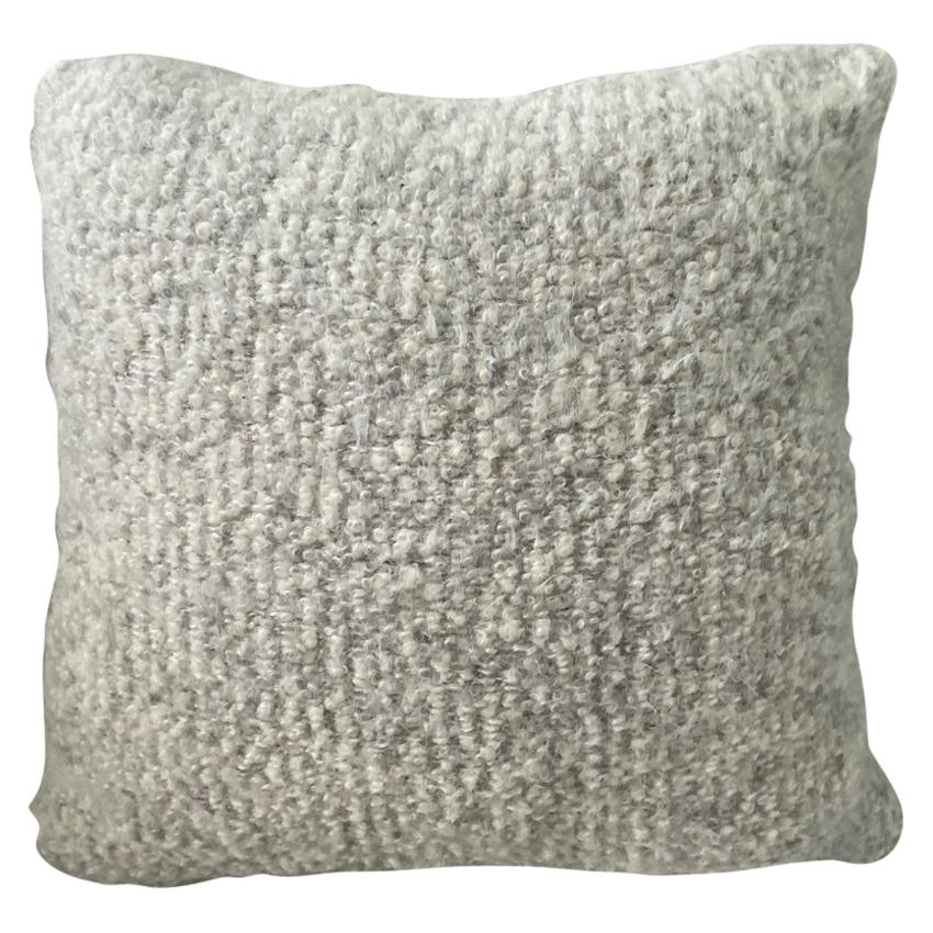 Pierre Frey Organic Woven Alpaca, Mohair, and Leather Luxe Throw Pillow