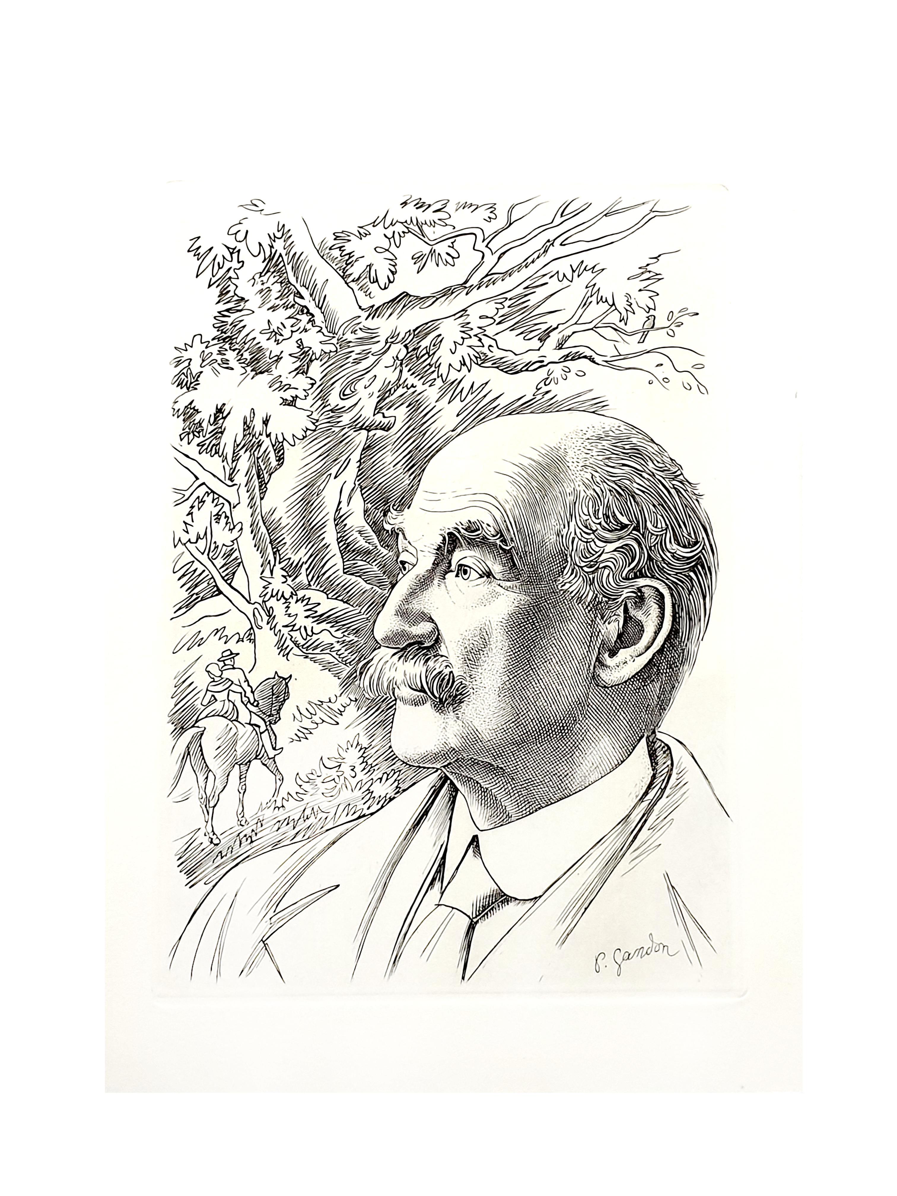 Pierre Gandon - Portrait - Original Lithograph
