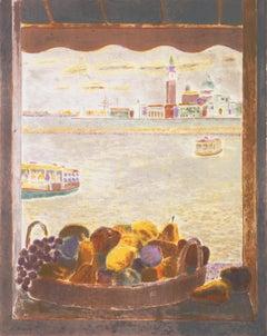 'View Across the Lagoon Venice', Academie Chaumiere, MAM Paris, Benezit