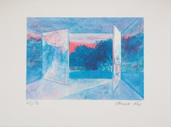 Window Wide Open - Original lithograph, Signed, Numbered