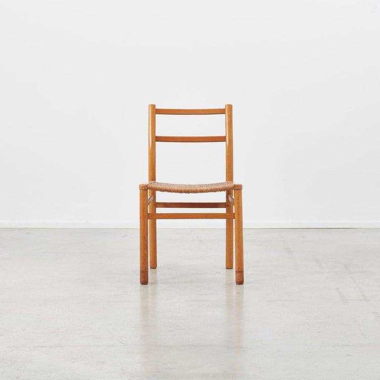 Pierre Gautier-Delaye Chairs for Lucien Vergnères, France, 1959 In Good Condition For Sale In London, GB