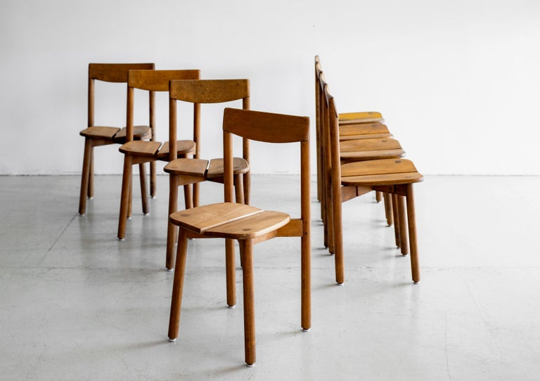 Mid-20th Century Pierre Gautier Delaye Dining Chairs For Sale