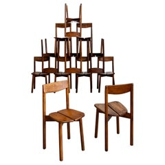 Pierre Gautier Delaye Dining Chairs, Set of 12