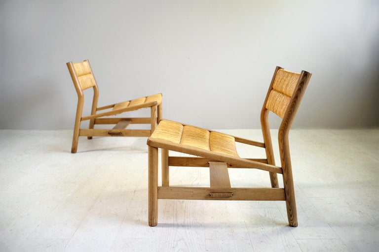 Mid-Century Modern Pierre Gautier-Delaye, Pair of Week-End Armchairs, France, 1956 For Sale