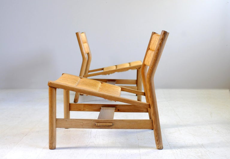 Straw Pierre Gautier-Delaye, Pair of Week-End Armchairs, France, 1956 For Sale