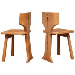 Pierre Gautier-Delaye Split Back Chairs