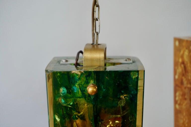 Pierre Giraudon Fractal Resin Shatterline Chandelier For Sale 4