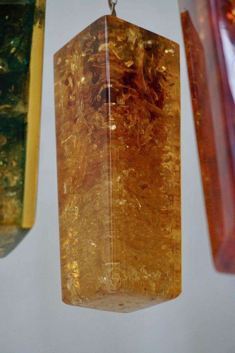 Pierre Giraudon Fractal Resin Shatterline Chandelier For Sale 2