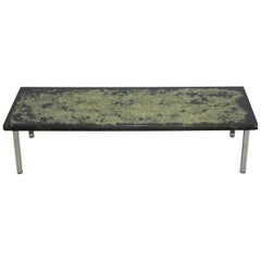 Pierre Giraudon, 'in Style' Coffee Table in Resin and Metal, circa 1970
