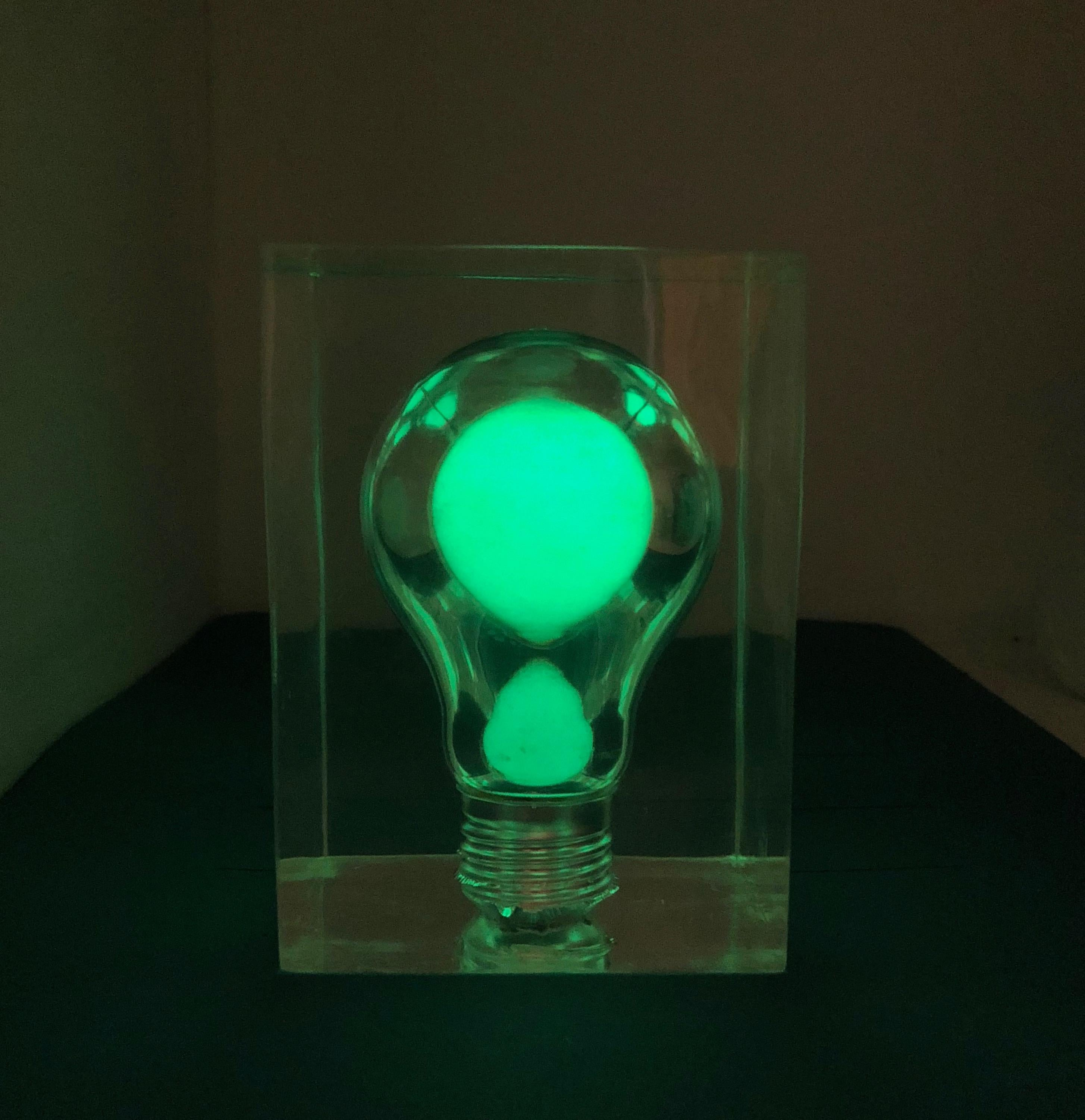 Other Lucite Light Bulb By Pierre Giraudon