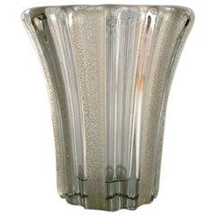 Pierre Gire '1901-1984', aka Pierre d'Avesn, Art Deco Vase in Clear Art Glass