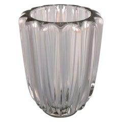 Pierre Gire, Aka Pierre d'Avesn, Art Deco Vase in Clear Art Glass