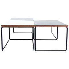 Pierre Guariche, France 1950, Set of 4 Minimal Design Side Table