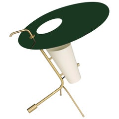 Pierre Guariche G24 Table Lamp in Green and White for Sammode Studio