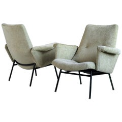 Pierre Guariche, Pair of Armchairs SK 660, Steiner Edition 1953