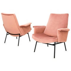 Pierre Guariche, Pair of Lounge Chairse Model SK660, France, 1953