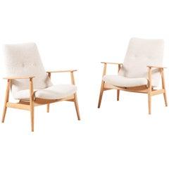 Pierre Guariche, Zwei Seltene SK660 Sessel, 1950er Jahre
