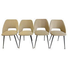 "Pierre Guariche Serie of 4 Chairs Model ""Tonneau"""