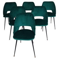 "Pierre Guariche Serie of 6 Chairs Model ""Tonneau"""
