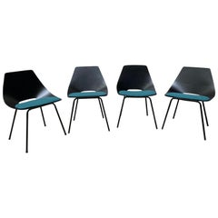 Pierre Guariche Set of 4 Chairs Model Tonneau