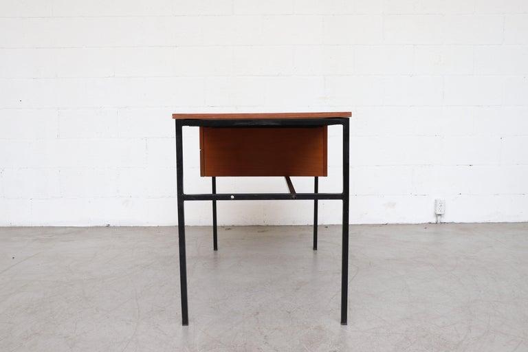 Mid-Century Modern Pierre Guariche Teak Writing Desk for Meurop For Sale