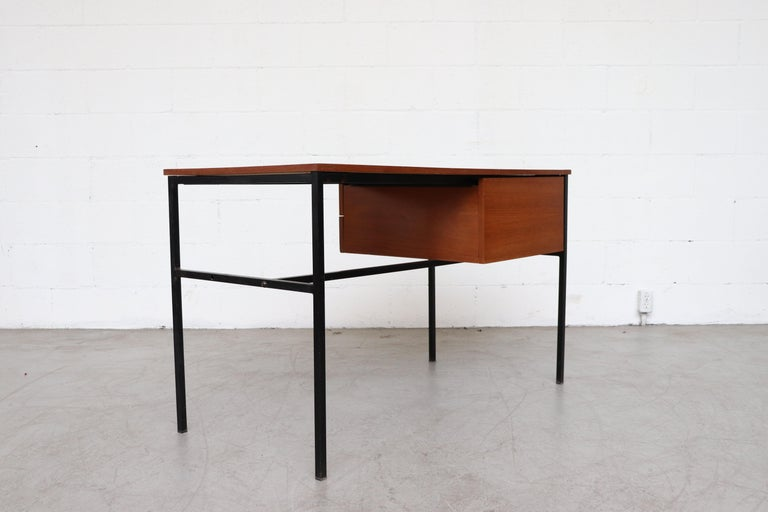 Belgian Pierre Guariche Teak Writing Desk for Meurop For Sale