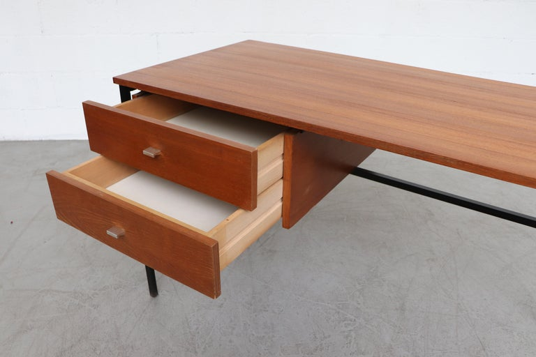 Mid-20th Century Pierre Guariche Teak Writing Desk for Meurop For Sale