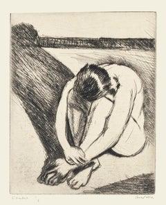 Shadow - Original Etching by Pierre Guastalla - 1940
