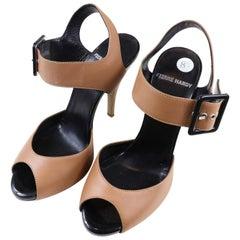 Pierre Hardy Peep Toe Wooden Heel Size 8.5