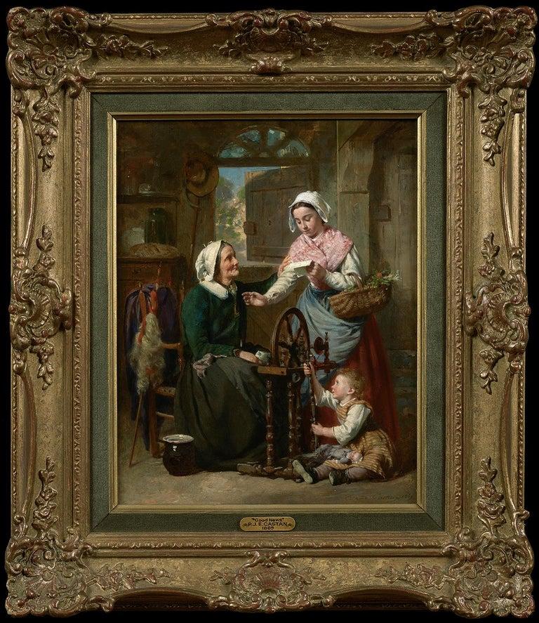 Good News - Academic Painting by Pierre Jean Edmond Castan