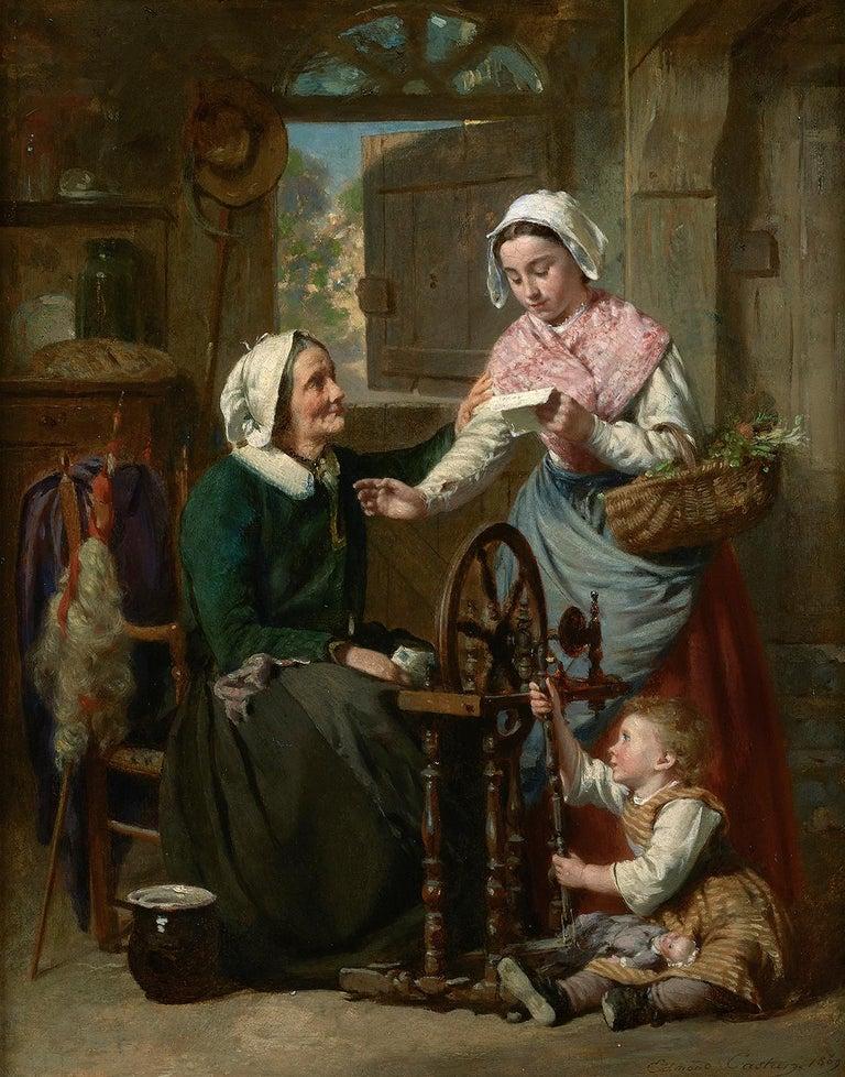 Good News - Painting by Pierre Jean Edmond Castan