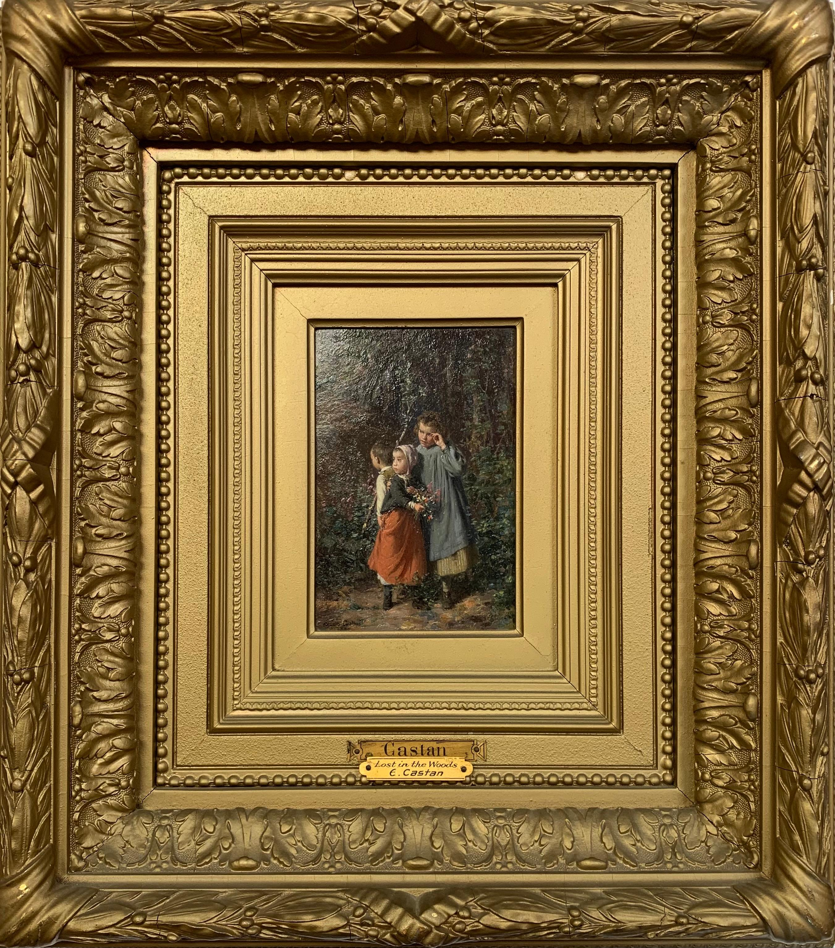 Lost in the Woods, 19th Century French Romanticism Painting