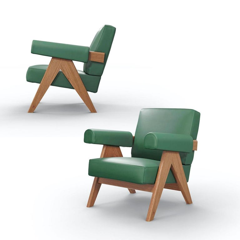 Armchairdesigned by Pierre Jeanneret circa 1950 , relaunched in 2019. Manufactured by Cassina in Italy.  Included in UNESCO's 2016 Cultural Heritage list, the extraordinary architecture of Le Corbusier's Capitol Complex, designed by Chandigarh in